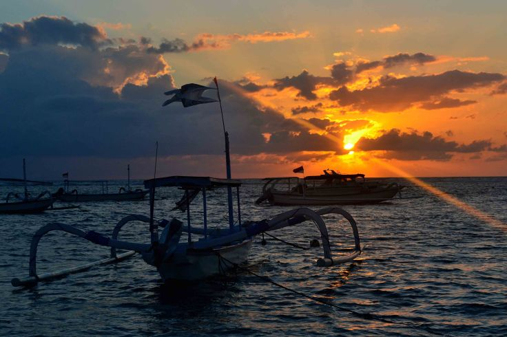 Sunrise in Sanur Beach Bali