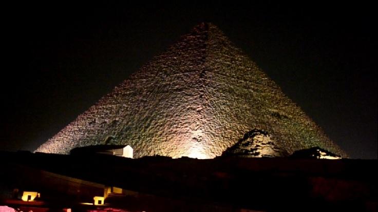 pyramid light and sound show