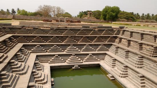 Stepped pool in royal enclosure hampi