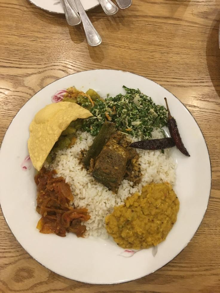 Sri Lankan Cuisine (Thali) in Davon Hotel