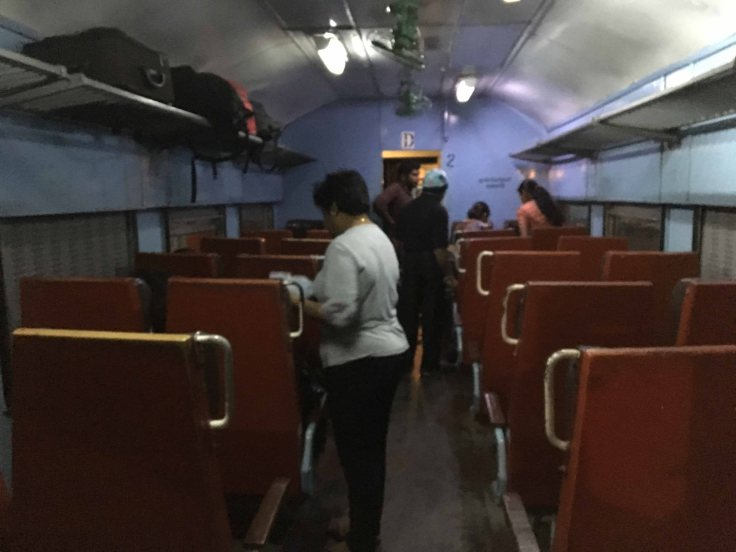Train from Kandy to Colombo - Inside 2nd Class Compartment